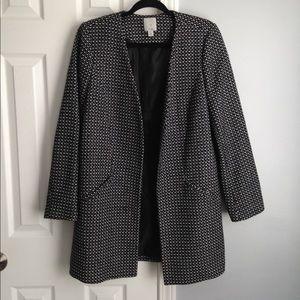 Halogen no closure Tweed coat